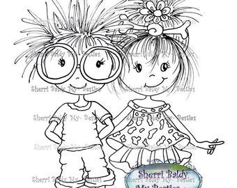 INSTANT DOWNLOAD My Besties Remix Couple Bestie Sherri Baldy digi stamp