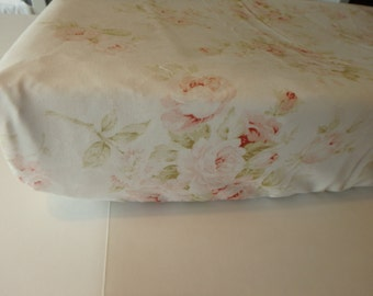 Shabby Chic Vintage Rose Changing Pad Cover
