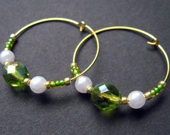 Handmade Hoop Earrings - A Taste of Key Lime. Handmade Earrings.
