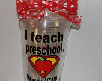 Personalized Preschool Teacher Gift - Preschool Teacher Gift -Preschool Teachers - Personalized Teacher Gifts - Teacher Appreciation Gift