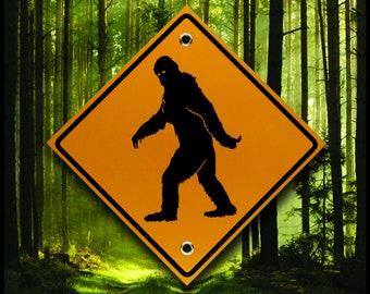 Bigfoot Crossing Sign  - Reflective Marker - YETI - Sasquatch - Treehouse  - Fun Yard Decor