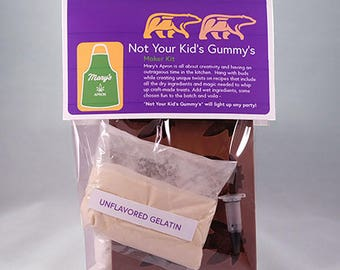 Gummy Candy - Edible Maker Baker kit.  Recipes, dry ingredients and molds to create gourmet Cannabis treats at home
