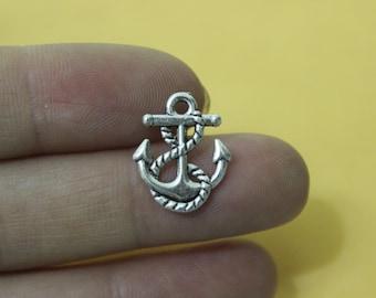1pc Tiny Anchor Charms Nautical Charm Drops 18*22mm