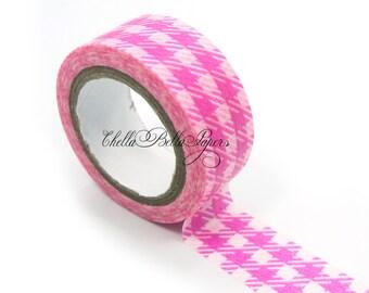 Pink Gingham Washi Tape - Paper, Sticker, Scrapbooking