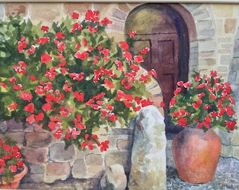 Venetian Doorway Original Watercolor