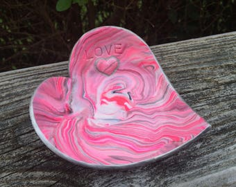 LOVE jewelry dish / Valentines Day Gift / Gift for her / Trinket holder