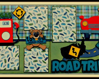 Road Trip Double Page Scrapbook Layout