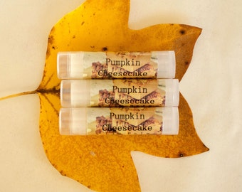 Pumpkin Cheesecake Lip Balm Shea Butter Bakery Scent Salve Birthday Gift Wedding Favors
