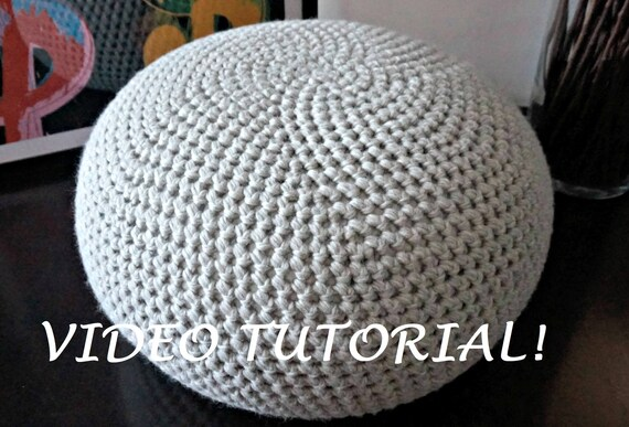 CROCHET PATTERN Diy Tutorial Crochet Pouf Poof Ottoman