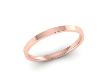 Thin Wedding Band, Rose Gold Wedding Band, 14K Rose Gold Wedding Band, Rose Gold Band, Rose Gold Wedding Ring, Plain Wedding Band, 1.50mm