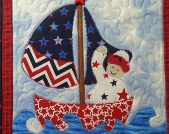 Festive 4th of July Quilted Wall Hanging