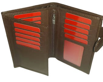 mens leather wallet mens wallet card holder wallet leather coin purse wallet travel wallet brown wallet black