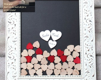 guestbook wedding book Droptop wedding guestbook Wedding Guest Book Wedding Guestbook Custom Guest Book drop top guestbook heart drop box