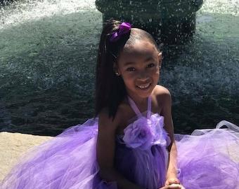Lavender Purple Girl Dress, Lavender Purple Flower Girl Dress, Lavender Purple Tulle Dress, Lavender Purple Wedding, Tutu Dress