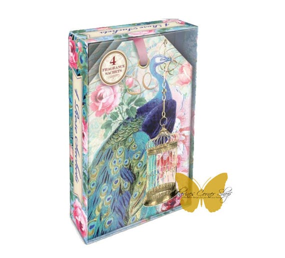 Royal Peacock Rose Scented Sachets