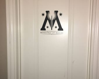Harry Potter Ministry of Magic Bathroom, Wall Vinyl Decal