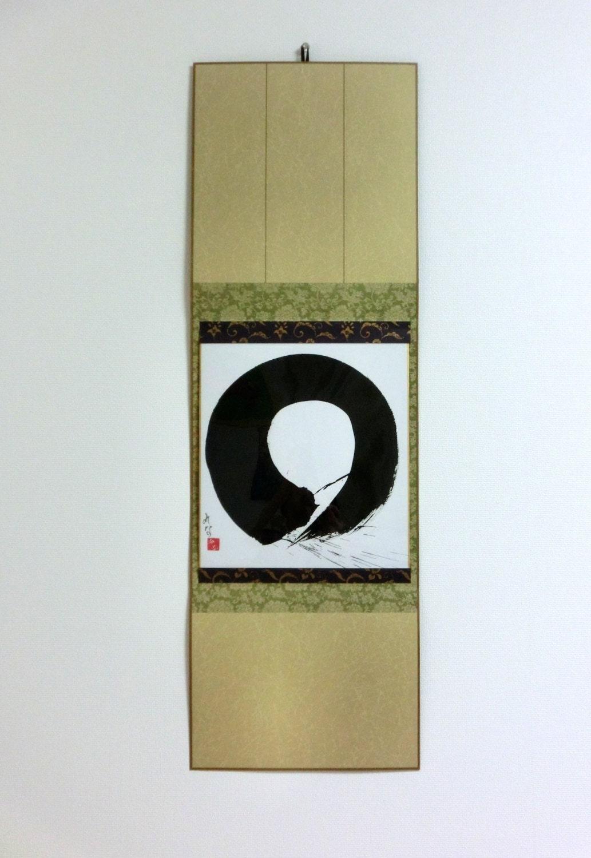 Enso Zen Kreis Schwarz Weiss Japanische Kunst Japanische