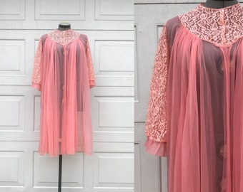 60s lingerie robe, lace