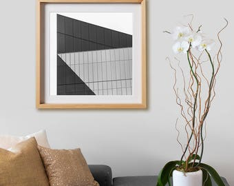 51 Astor Place Building Print.  Architectural photography, print, black and white, buildings, New York, wall art, artwork, large format.