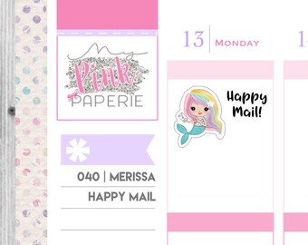 040 | Merissa Happy Mail | Mermaid Stickers