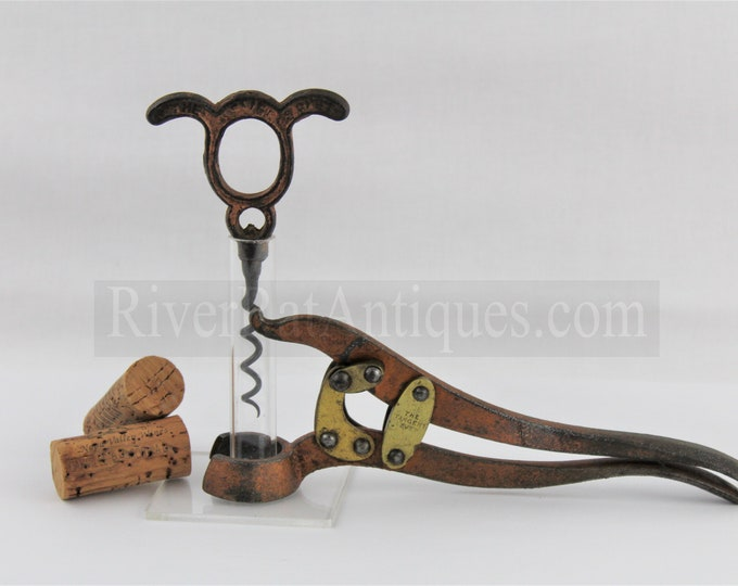 Antique 1873 Edwin Wolverson The Tangent Lever &  The Lever Signet Corkscrew, Single Lever Corkscrew