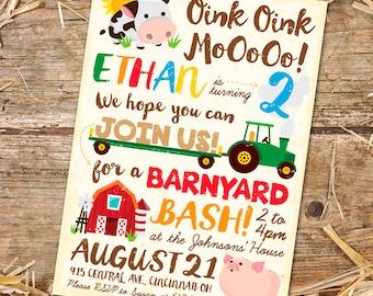 Barnyard Birthday Invitation (Printable PDF)