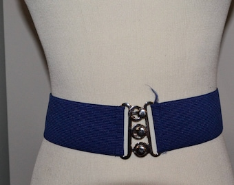 Vintage Belt Navy with Silver
