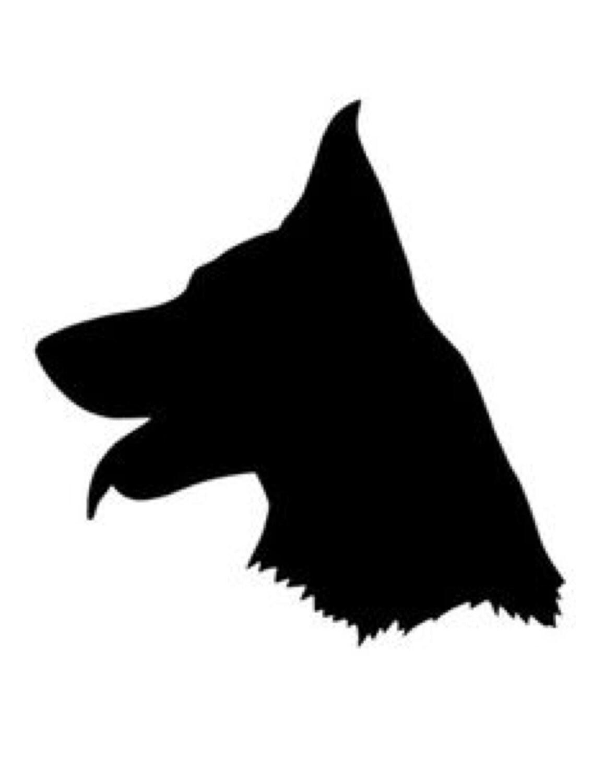 German Shepherd Stencil Made From 4 Ply Mat Board