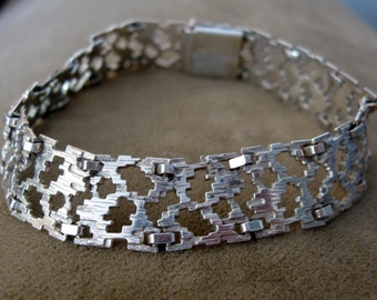 Exquisite Kordes & Lichtenfels Modern Germany Early Tech Design 800 Silver Bracelet