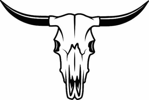 bull skull 1 skeleton bones horns cowboy country western cow longhorn clipart black and white longhorn clipart png
