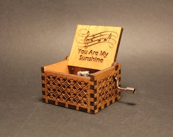 Engraved Wooden Music Box - You Are My Sunshine - Jimmie Davis
