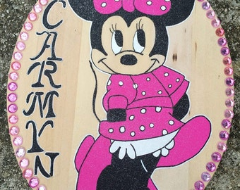 Minnie Mouse Wall Decor,Minnie Mouse Room Decor,Minnie Mouse Door Decor, Little Girl Wall Decor, Little Girl Door Decor