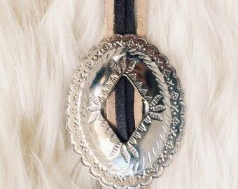 NEW Bolo Necklace/ Bolo/ Concho Necklace/ Bolo Tie/ Bolo Necklace with Concho/ New Bolo Necklace/ Bolo Necklace with Suede/ Suede Bolo Tie