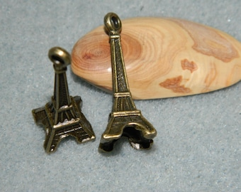 bronze 1 eiffel tower charm 30 mm
