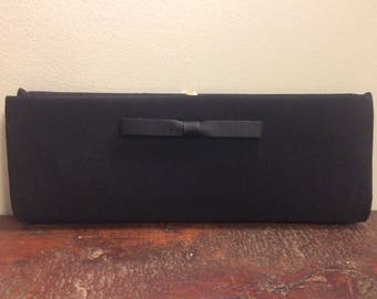 black clutch with bow/1950s//HL