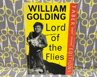 The Lord of the Flies by William Golding paperback book vintage movie cover