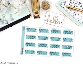 """MCM MANTRAS: """"She believed she could...but she was tired..."""" Paper Planner Stickers!"""