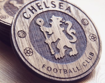 Chelsea F.C. Inspired Wooden Coaster