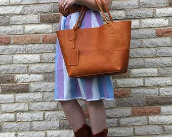 Savannah Tote - Handmade Large leather tote - leather satchel