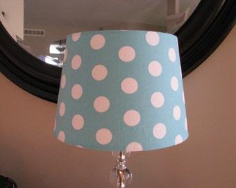 Lamp Shade Aqua Polka dot