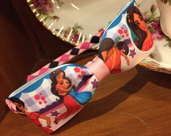 Elena of Avalor Woven Headband with Elena Ribbon Bow attached - Stunning Boutique Quality