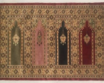 Bukhara Hand Knotted Silk Wool Rug