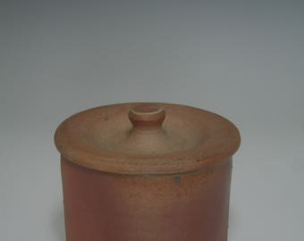 Small wood fired covered jar