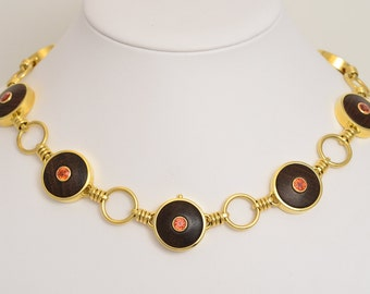 Collier • rosewood • Sapphire • gold • necklace