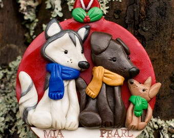 Pet and Animal Ornaments DEPOSIT, Custom Polymer Clay Sculpture