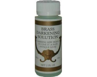 Brass Darkening Solution - Brass Patina - Metal Ager  - 2 Ounce Bottle