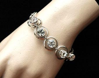 Silver Crystal Bracelet Bridal Bracelet, Wedding Bracelet, Formal Jewelry, Rhinestone Bracelet, Silver Bracelet, Wedding Jewelry SALE