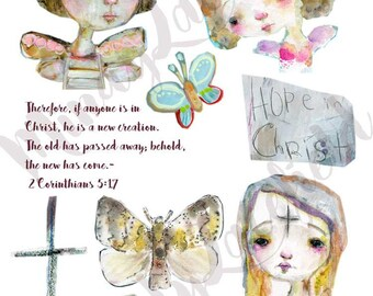 Transformed journaling collage sheets - by Mindy Lacefield