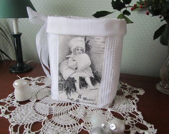 Christmas in white (decorative basket)