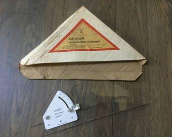Vintage measuring tool drafting architecture  adjustable triangle England